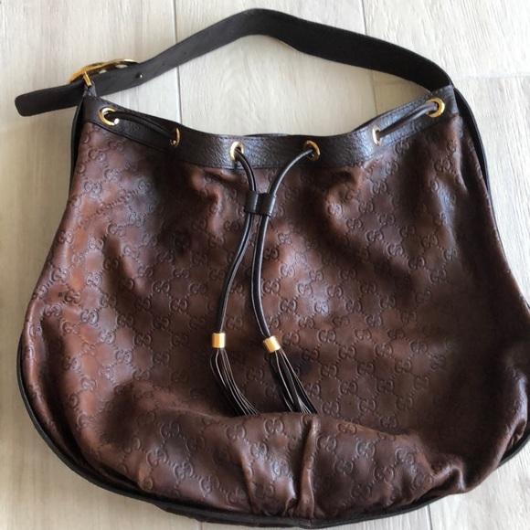 Gucci Handbags - Gucci brown leather handbag